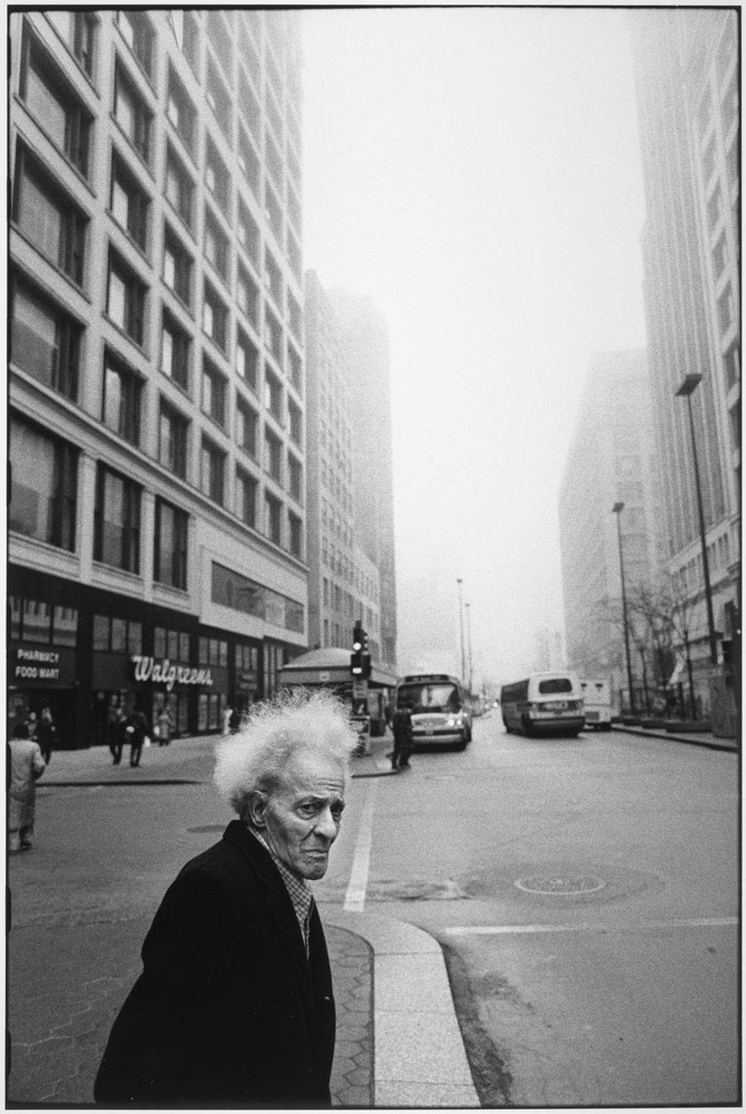 Man on the street, Chicago, 1990