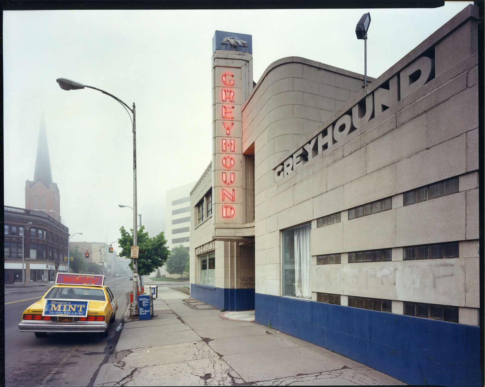 Greyhound Bus Station, Binghamton, NY, 1986
