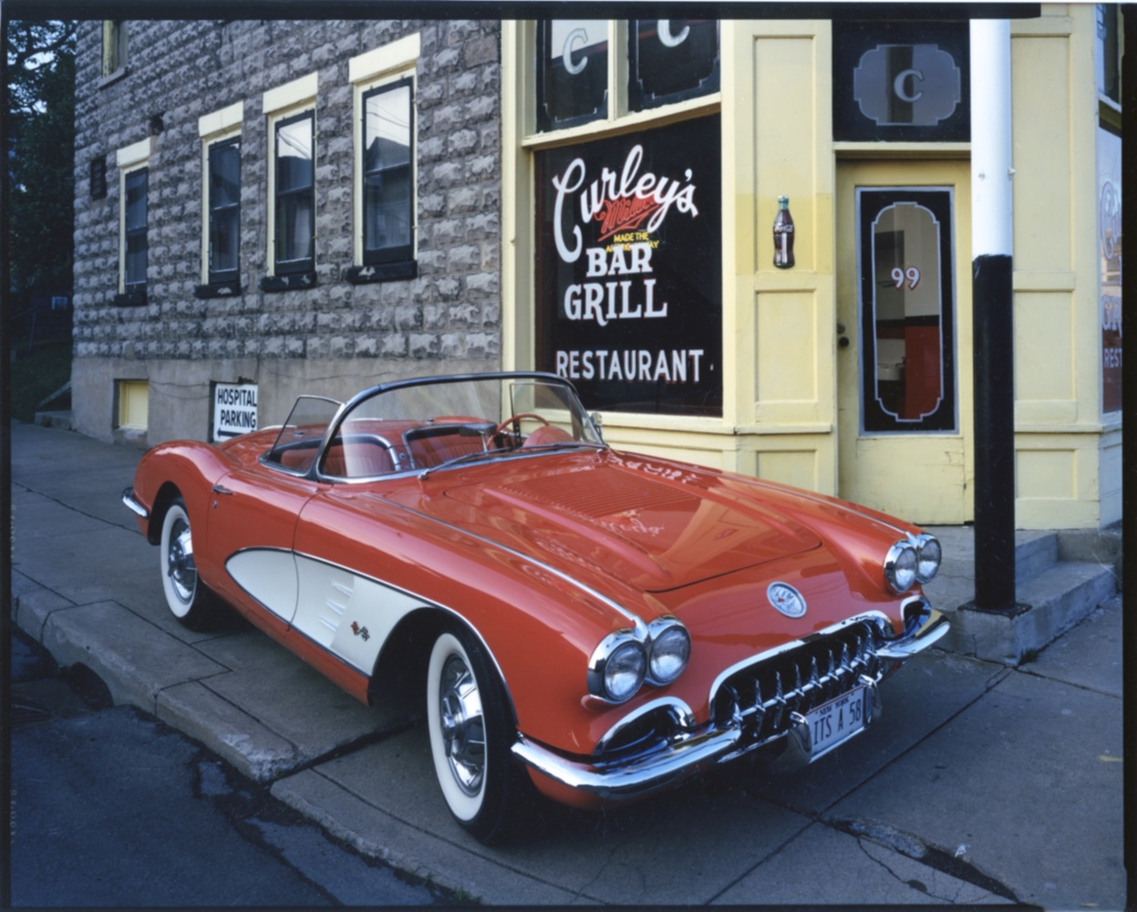 1958 Corvette, Curley's Bar and Grill, Johnson City, NY, c. 1987