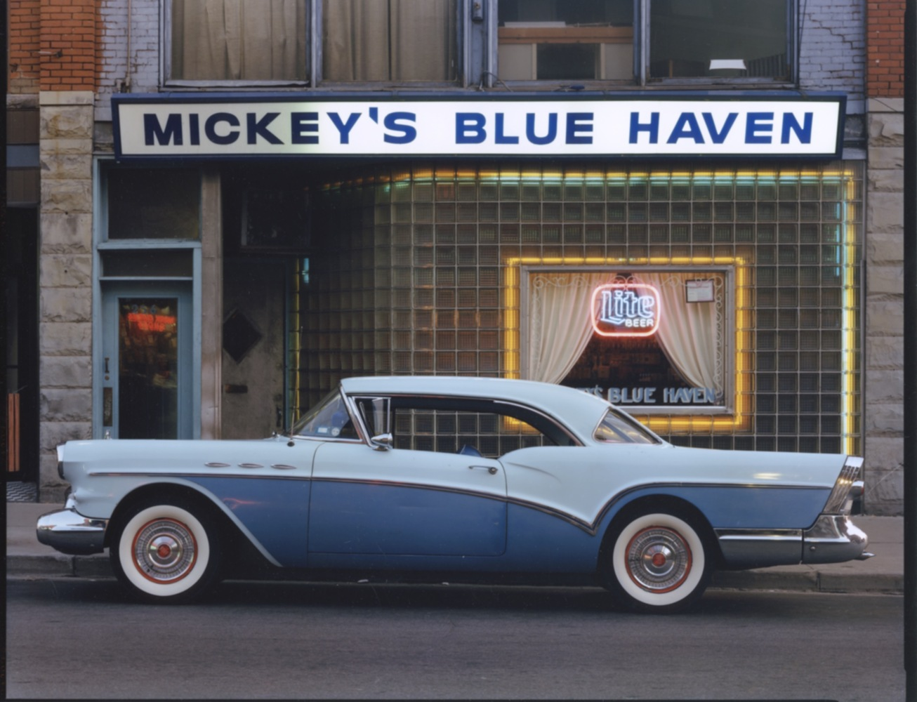 1957 Buick Special Riviera Coupe, Mickey's Blue Haven, Johnson  City, NY, c. 1987