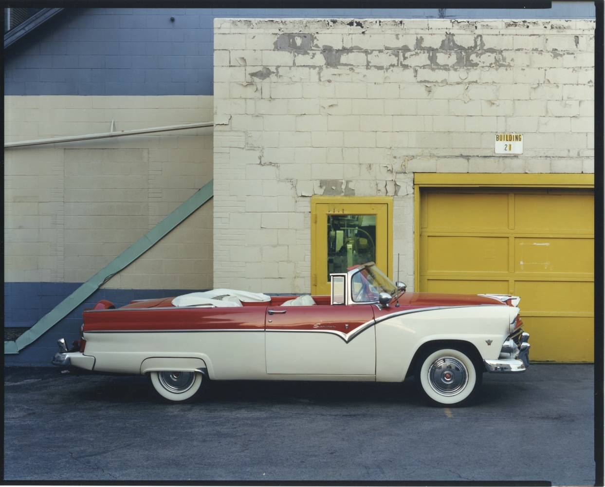 1955 Ford Sunliner, Building 21, Upstate NY, 1988