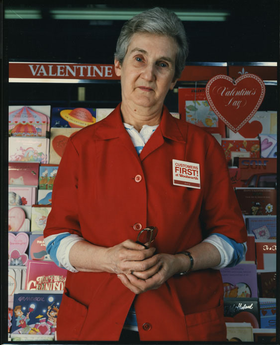 Clerk at Woolworths, Binghamton, NY, 1987
