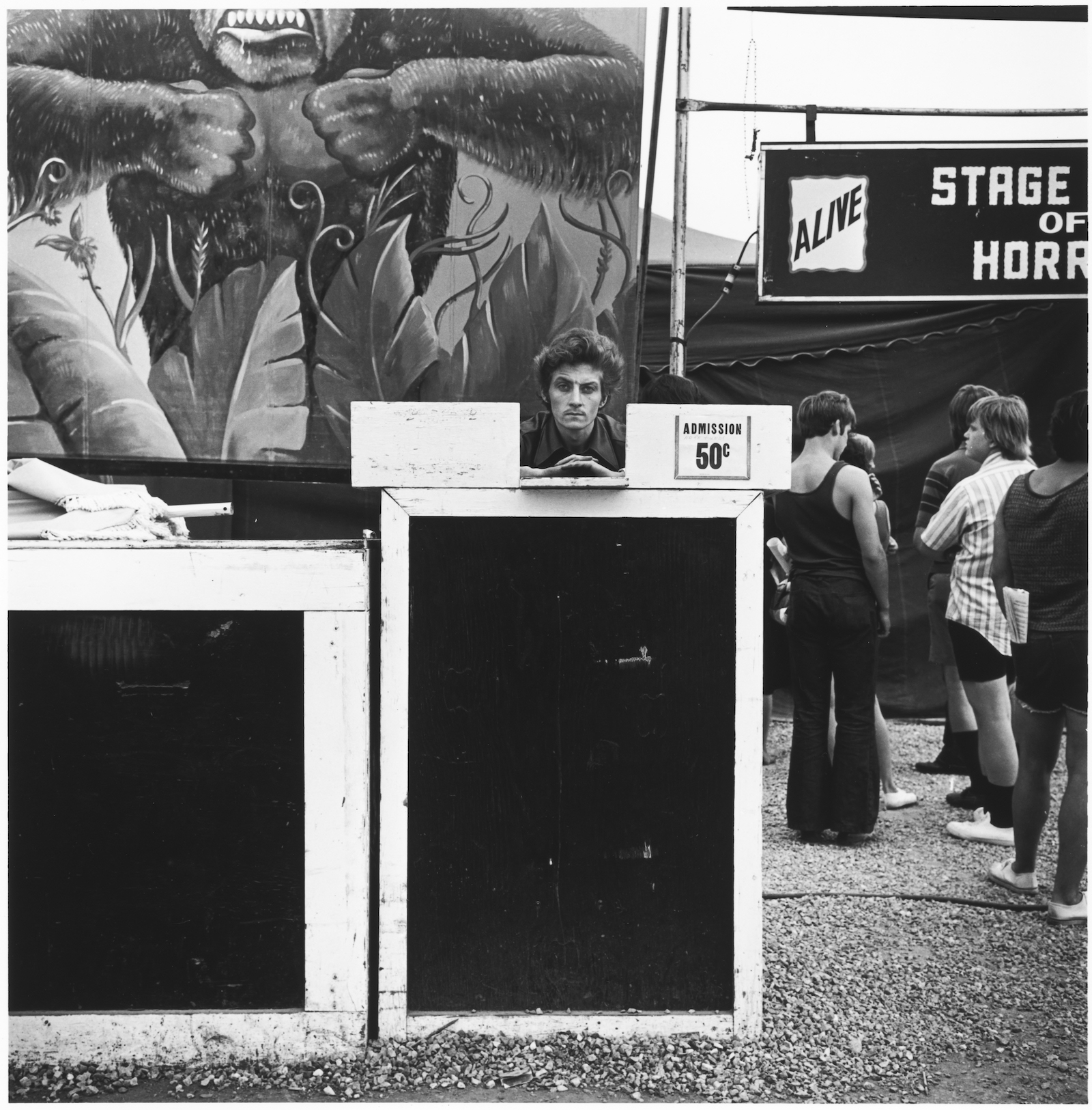 Ticket taker, Minnesota State Fair, St. Paul, Minnesota, 1973